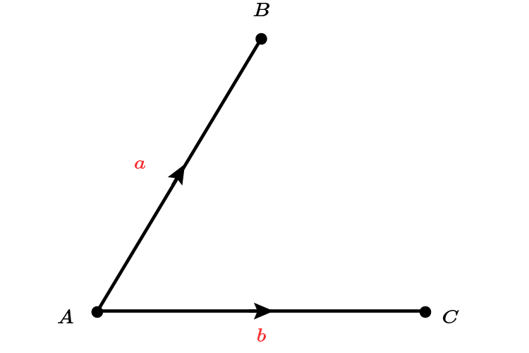 Write in terms of a and b with the following vectors