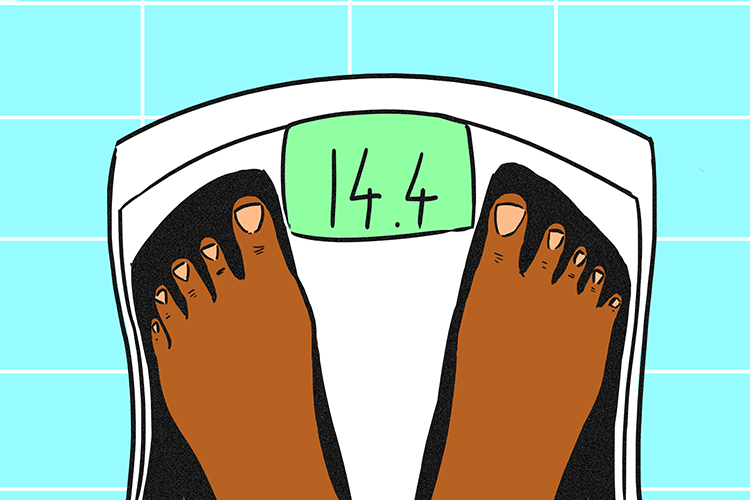 A scalar will only give you a number such as weighing scales