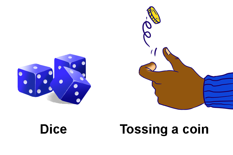 Remember the dice and coin famous chances image
