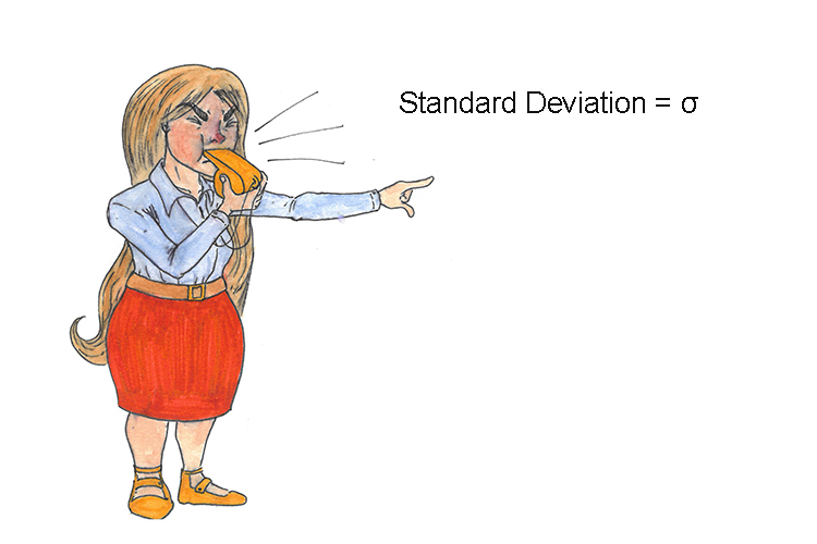 Mnemonic to help you remember the standard deviation symbol