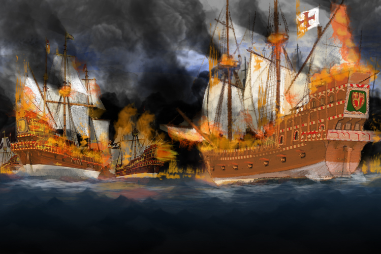 Spanish armada destroyed 1588