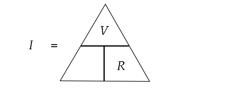 I is equal to V over R