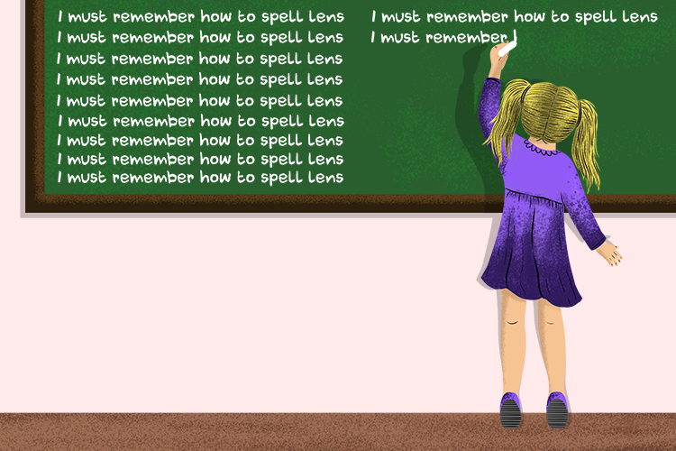 How to remember the spelling of lens