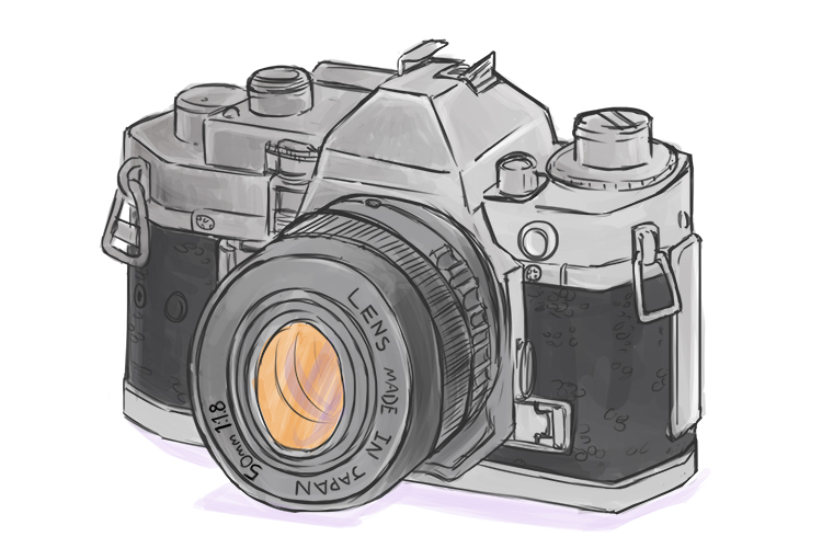 Picture of an SLR camera