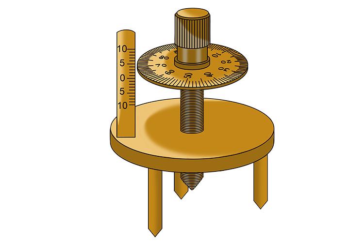Practical way to find the principal focal length – Spherometer