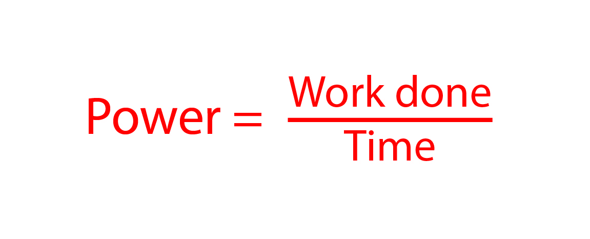Power is work done over a given time
