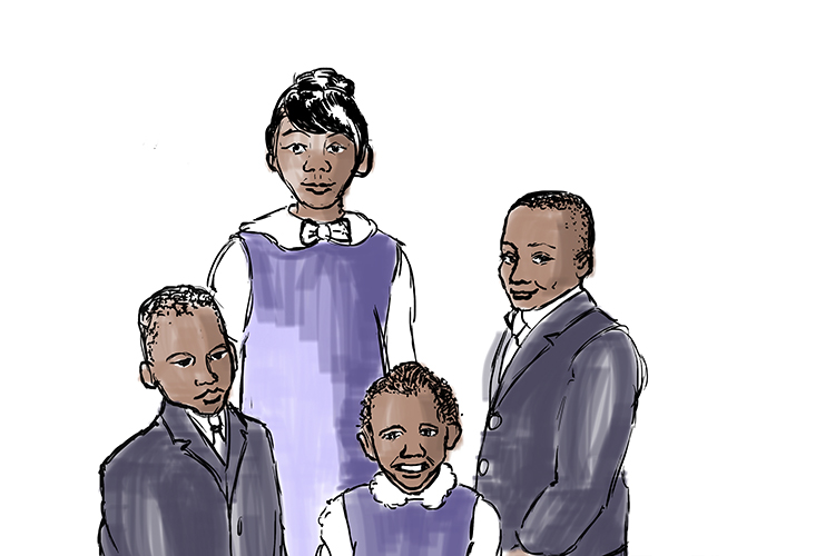 "Image to remember the ""my four children will"" part of Martin Luther Kings famous speech"