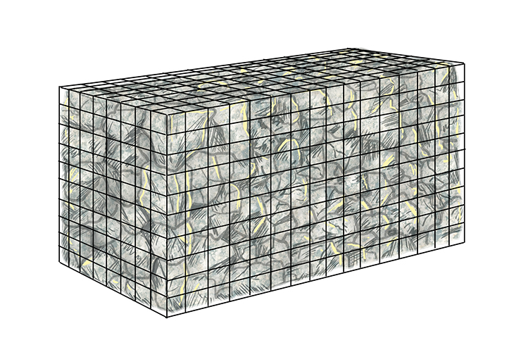 Gabion construction diagram 2 in coastal landscapes geography.