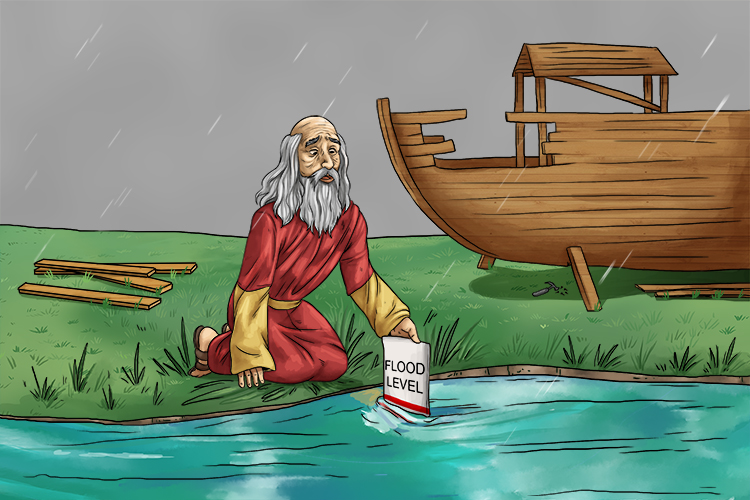 When Noah saw that river discharge was exceeding river channel capacity he rather sensibly built an ark.