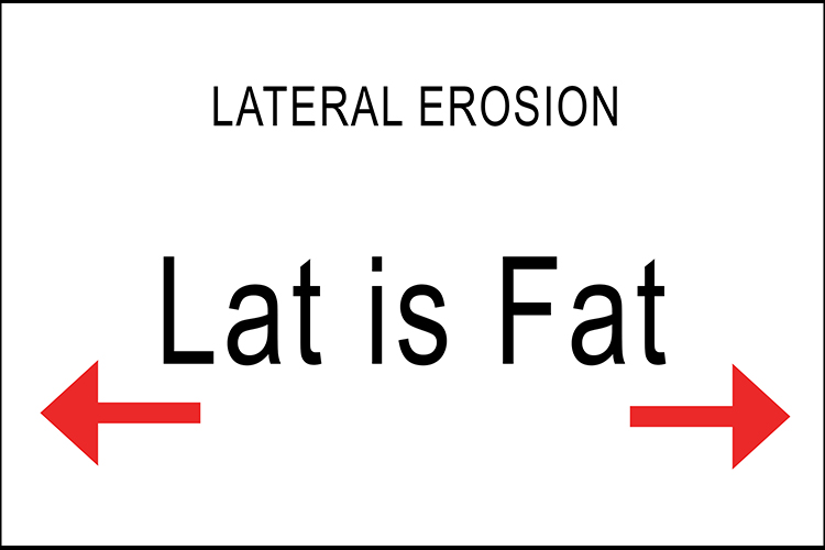 """Lat is Fat"" will remind you that lateral is the movement sideways, not down."