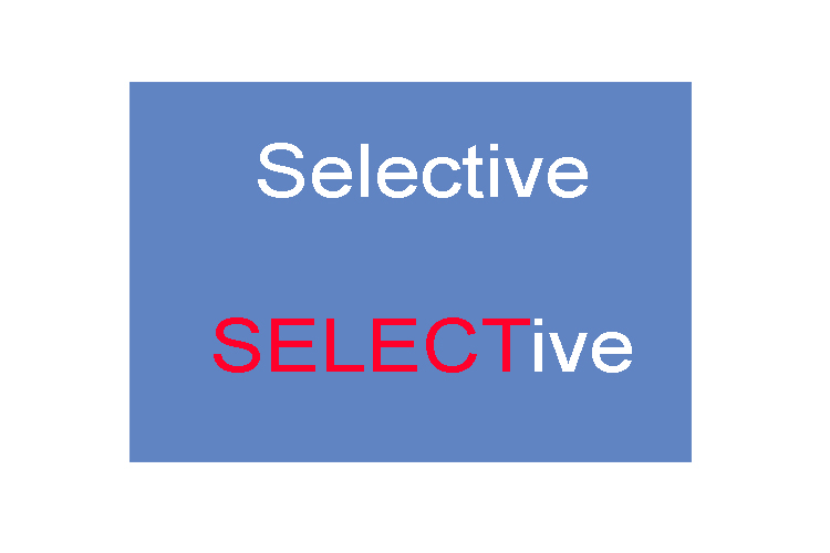 "Selective has the word ""select"" in it which helps to remind you that selective logging is selecting only certain trees to chop down. See below the difference between deforestation (non-selective) and selective logging:"