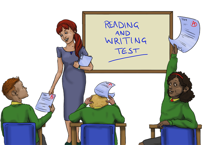 She could literally rate (literacy rate) her whole class for basic reading and writing skills after giving them a simple test.