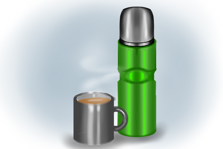 My thermos flask always has a hot drink in it