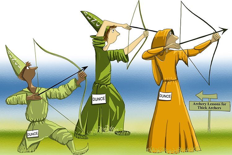 Dunce archers depicting arteries have thick walls